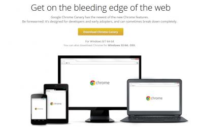 開発者向けにGoogle Chrome 64bit版が公開(Windows 7/8)